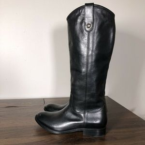 New Frye Melissa Button 2 Tall Black Boots Size 6